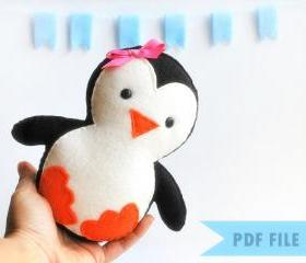Baby Penguin Sewing pattern - PDF ePATTERN A315