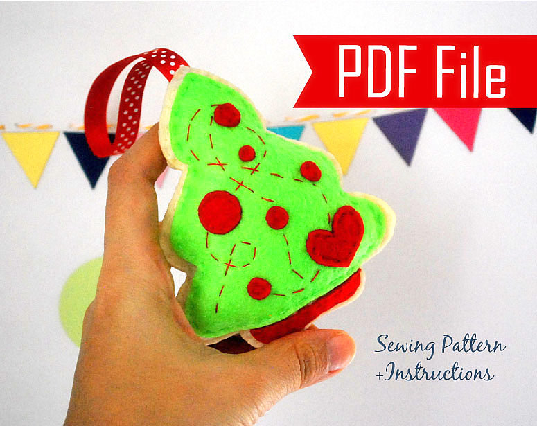 Christmas Tree Ornament Patterns For Sewing Diy Christmas Tree Ornament