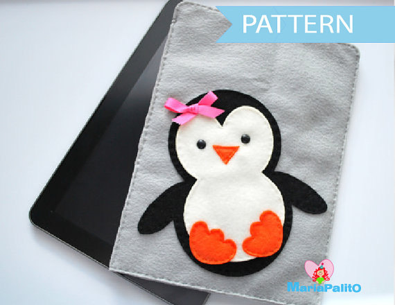 Diy Penguin Ipod Sleeve Felt Ipad Sleeve Sewing Pattern