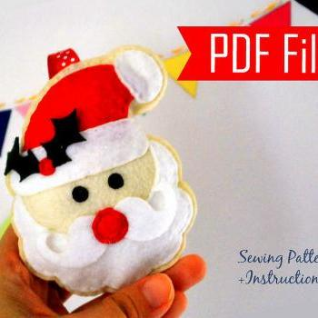 DIY Santa Claus Sewing pattern - PDF ePATTERN , Christmas Ornament Instant Download A871